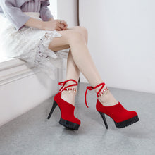 Load image into Gallery viewer, Sexy Super High Heel Round Head Rhinestone Platform Shoes