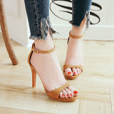 Ankle Strap High Heels Platform Sandals Summer Shoes 5227