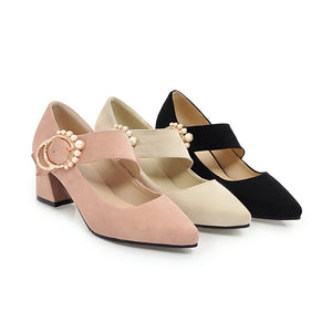 Pearl High Heels Shallow Toe Women Pumps