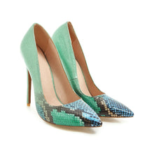 Load image into Gallery viewer, Super High Heel Serpentine Shallow Mouth Stiletto Pumps