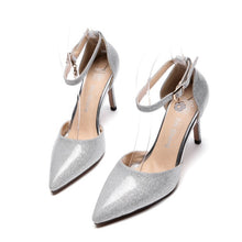 Load image into Gallery viewer, Women's Hollow High Heel Pointed Toe Buckle Stiletto Heel Sandals