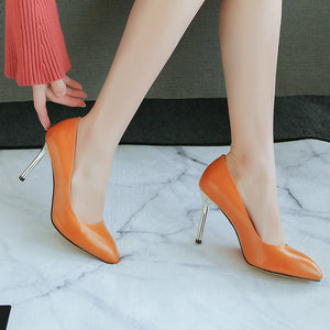 Sexy Thin Heel Super High Heel Shallow Mouth Pointed Toe Pumps