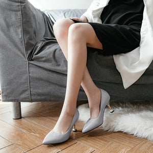 Sexy Shallow Mouth Kitten Heels Women Pumps