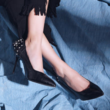 Load image into Gallery viewer, Super High Heel Rhinestone Pointed Toe Women Pumps