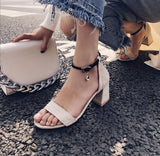 Ankle Strap High Heels Sandals Summer Shoes 7759