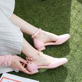 Ankle Strap Low Heel Sandals Summer Shoes 4229