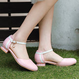 Ankle Strap Low Heel Sandals Summer Shoes 2316