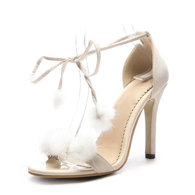 Women's High Heel Ankle Strap Peep Toe Stiletto Heel Sandals