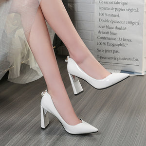 Pointed Toe High Heels Pumps Bride Shoes