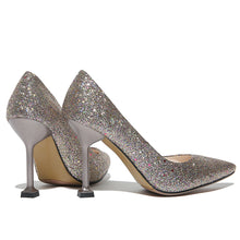 Load image into Gallery viewer, Sequins High Heel Bride Shoes