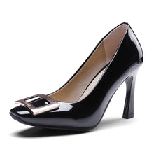 Load image into Gallery viewer, Square Head Buckle High Heel Pumps