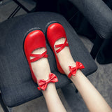 Cross Straps Bow Mid Heel Pumps Shoes for Women 9209