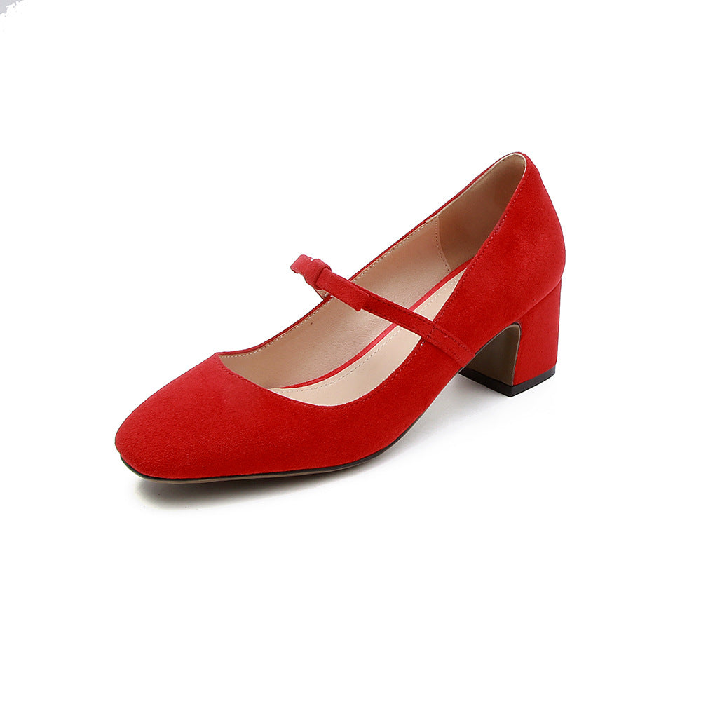Knot Mary Janes Mid Heel Pumps Shoes