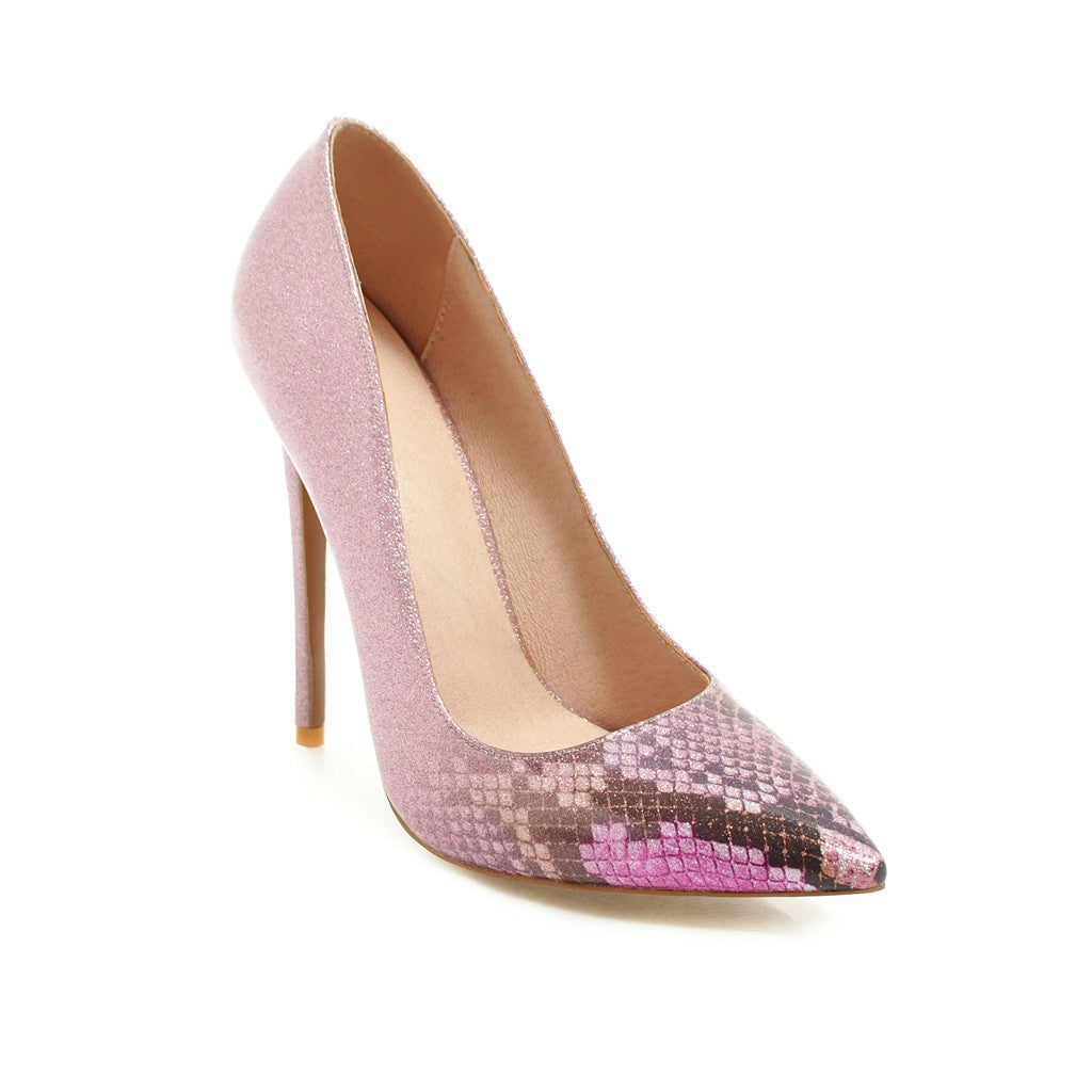 Pointed Toe Extreme High Heel Pumps