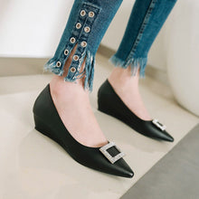 Load image into Gallery viewer, Leisure Pointed Toe Rhinestone Wedges Women Pumps Shoes