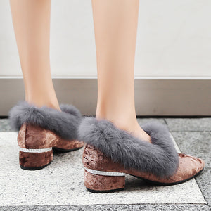 Leisure Thick-heeled Women Loafers Shoes