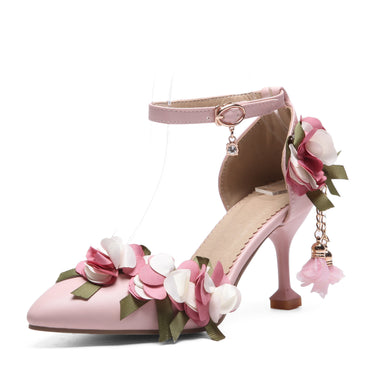 Women's High Heel Sweet Flowers Bride Stiletto Heel Sandals