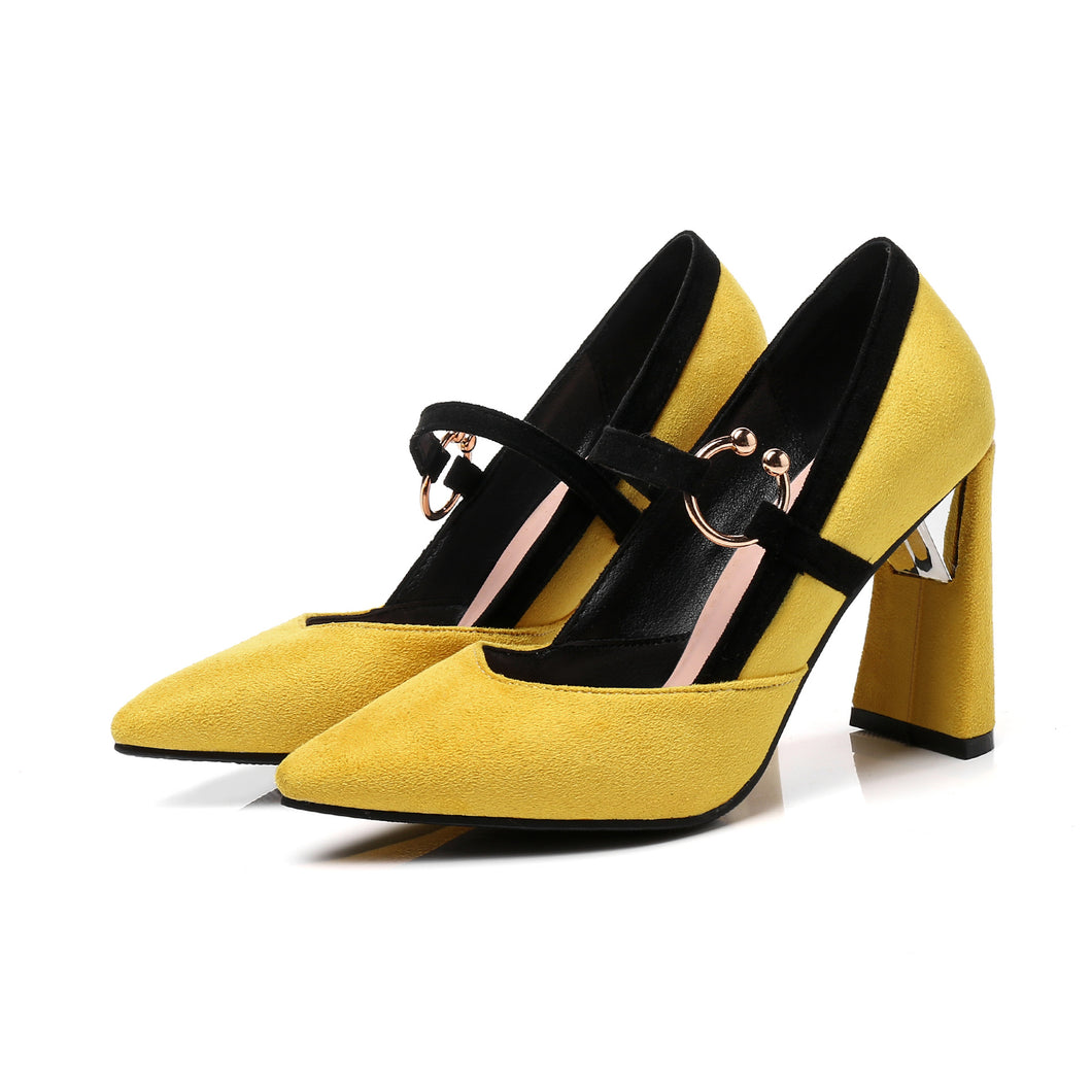 New 2018 Versatile Foreign Trade Fashion Pointed Toe Shoes 33-46 18314