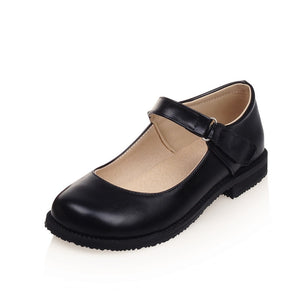 Vintage Round Toe Flats Shoes for Women