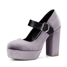 Load image into Gallery viewer, Mary Jane Shoes Super High Heels Platform Pumps