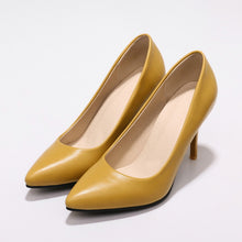 Load image into Gallery viewer, Stiletto Heel Super High Heel Shallow Mouth Pointed Toe Dress Shoes Women Pumps