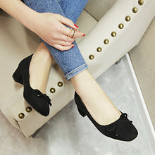Load image into Gallery viewer, Leisure Style with Rough Heel Square Head Shallow Mouth Women Chunky Pumps