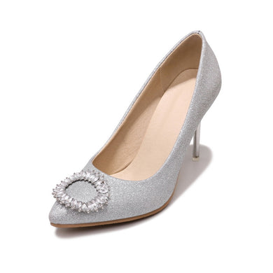 Women's Rhinestone Wedding Shoes High Heel Pumps