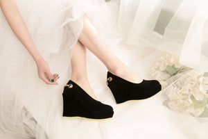 Women's Shallow Toe Bride Shoe Platform Wedges Shoes