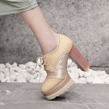 Load image into Gallery viewer, Lace Up Platform High Heel Shoes