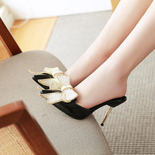 Load image into Gallery viewer, Women's Bow Stiletto Heel Sandals