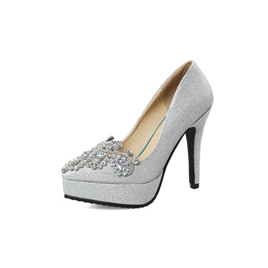 Women's Bride Shoes Platform High Heel Pumps