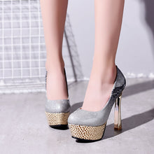 Load image into Gallery viewer, Super High Heel Platform Pumps Club Shoes