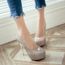 Load image into Gallery viewer, Wedding Platform Stilettos High Heels Crystal Shoes 2725