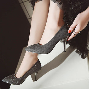 Sexy High-heeled Pointed Toe Stiletto Heel