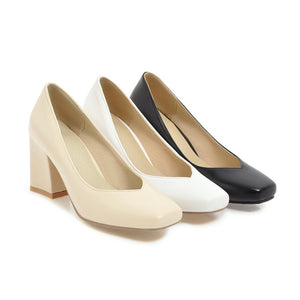 Thick Heeled High Heel Shallow Mouth Women Pumps