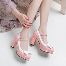 Load image into Gallery viewer, Butterfly Knot Platform Pumps High Heels