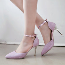 Load image into Gallery viewer, Women's High Heel Pointed Sequin Buckle Belt Bridal Stiletto Sandals