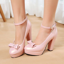 Load image into Gallery viewer, Bow Tie Platform Pumps High Heels