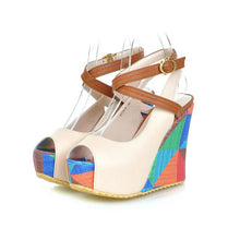 Load image into Gallery viewer, Women's Open Toe Platform Wedge Sandals