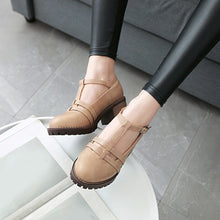 Load image into Gallery viewer, Women's Chunky Heel Round Head