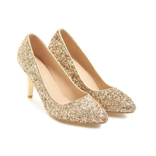 Load image into Gallery viewer, Sexy High Heel Shallow Sequin Stiletto Heel Wedding Shoes