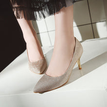 Load image into Gallery viewer, Wedding Shoes High Heel Shallow Mouth Women Pumps