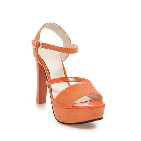 Ankle Strap Chunky Heels Platform Sandals for Women 9939