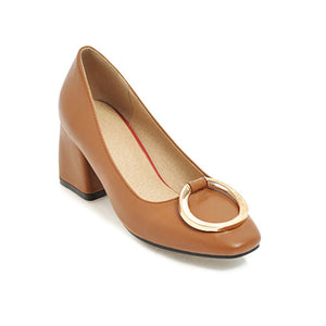 Pu Leather High Heel Women Pumps