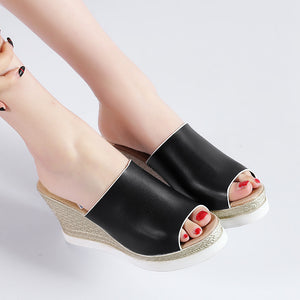 Women's Open Toe Platform Wedge Sandals