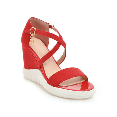 Women's Buckles Platform Wedge Sandals