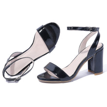 Load image into Gallery viewer, Women's Genuine Leather Open-toed Buckle Chunky Heel Sandals