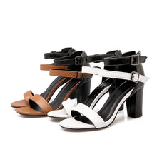 Load image into Gallery viewer, Women's High Heel Chunky Heel Sandals