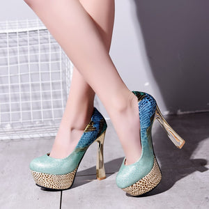 Patent Leather Pumps High Heels Fashion Women Shoes 9349