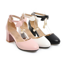 Load image into Gallery viewer, Fashion Bow Ankle Straps Sandals Pumps High Heels Women Dress Shoes 5597